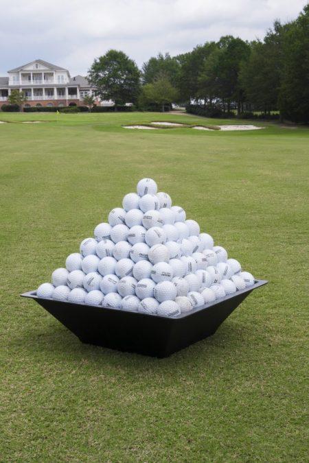 pyramid golf ball stacker California, pyramid golf ball tray Arizona