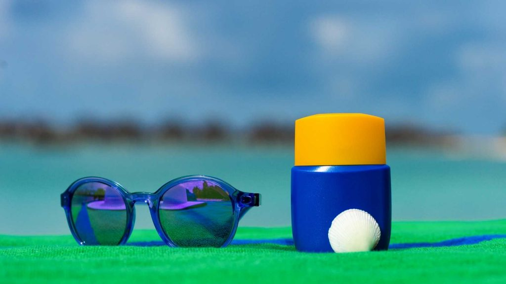 Golf Sunscreen and Sunglasses